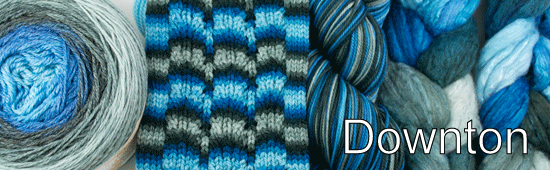 Beautiful sky blues perfectly united with classic gray. Inspired by my favorite dishy show by the same name, it's the cat's pajamas!