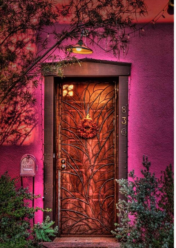 Inspired by a collection of photographs of doors and entryways from San Diego to Madrid. Sometimes bright, sometimes aged but all are colorful and fun!