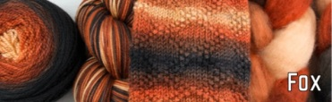 "Fox: From the soft black snout to the bright bushy tail this colorway is looking to burrow its way into your stash! Originally a part of the ""Look Down"" club collection. Soft black, oranges and cream."